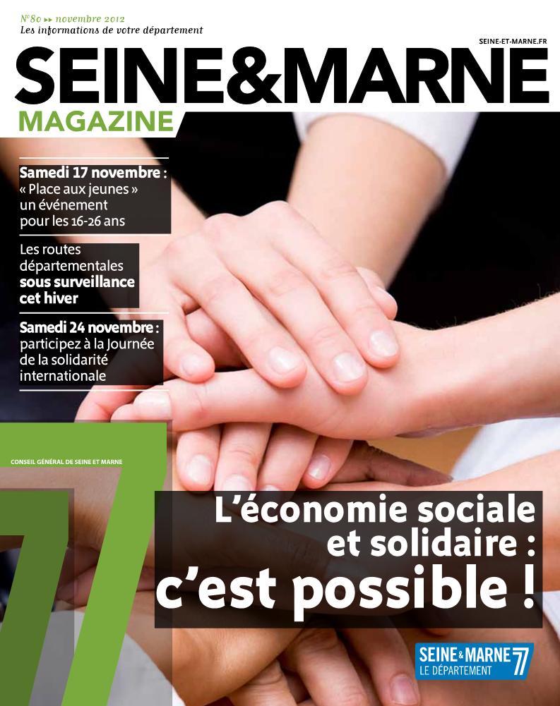 Couverture de Seine & Marne Magazine novembre 2012
